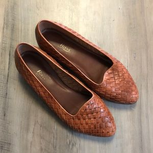 Vintage Bass Woven Leather Slip on Loafer Shoes 7